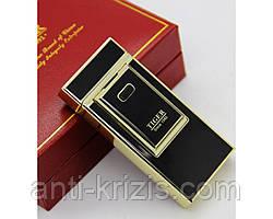 Электроимпульсная USB зажигалка Tiger №4686 Black-оригинал,подарочная упаковка,цвет на выбор!