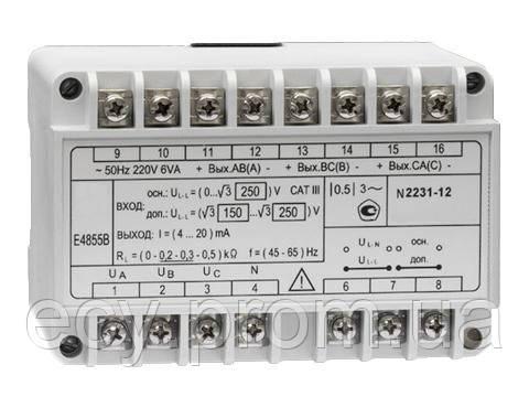 E4855A Преобразователь измерительный напряжения