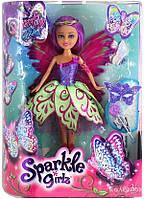 Волшебная фея-бабочка Funville Джессика в фиолетово-зеленом платье 25 см