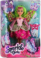 Волшебная фея-бабочка Funville Кейтлин в розово-красном платье 25 см