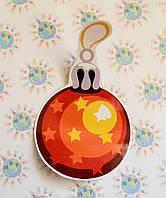Наклейка интерьерная для стен и окон Ёлочная игрушка