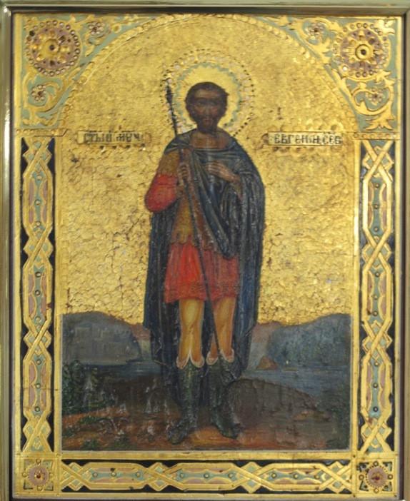 Икона Св. мученик Евгений XIX век