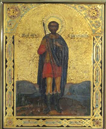 Икона Св. мученик Евгений XIX век, фото 2