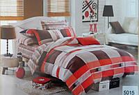 Сатиновое постельное белье евро ELWAY 5015