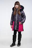 Зимнее пальто для девочки К-119