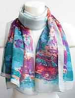 Красивый легкий женский шарфик 145 на 50 dress 7914_3 голубой