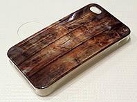 Чехол силиконовый Moshi c рисунком wood для iPhone 4/4s