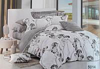 Сатиновое постельное белье евро ELWAY 5014