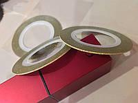 Фольга на липкой основе матовая 1мм золотая