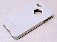 Чехол пластиковый SGP белый глянцевый для iPhone 4/4s