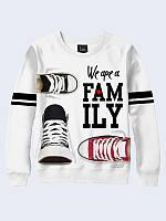 Світшот жіночий 3D We are family, фото 1