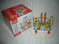 Деревянные игрушки Лабиринт-каталка лягушки