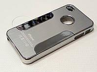 Чехол пластиковый зеркальный матовый для iPhone 4/4s