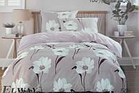 Сатиновое постельное белье евро ELWAY 5049