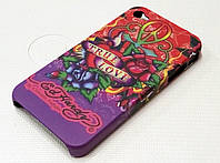 Чехол пластиковый матовый EdHardy true love для iPhone 4/4s