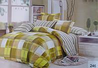 Сатиновое постельное белье евро ELWAY 246