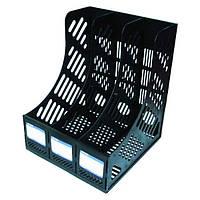"""Лоток для бумаг """"Economix"""" вертикальный 3 секции Е31903"""