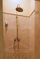 Бронзовая душевая система с тропическим душем Fiore Margot