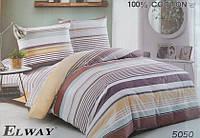 Сатиновое постельное белье евро ELWAY 5050