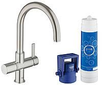 Смеситель для мойки с функцией очистки водопроводной воды GROHE Blue® Pure комплект