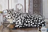 Сатиновое постельное белье евро ELWAY 4287