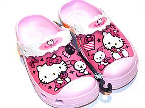 Кроксы для девочки Hello Kitty