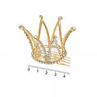 Диадема - корона золотая 4см