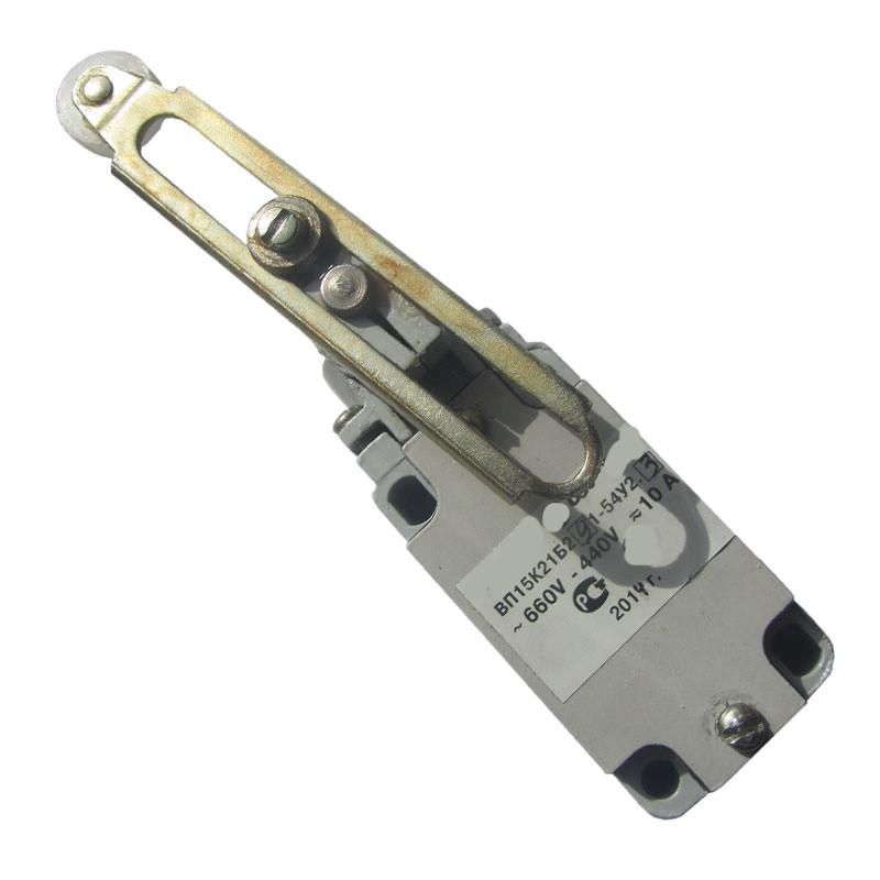 Выключатель ВП15К21А291-54У2.8 путевой концевой. Рачаг с роликом регулируемым по длине