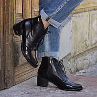 Ботиночки каблук замша и кожа женские