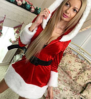 Новогодний женский костюм Снегурочка Санта Клаус Цвета 147 ОП, фото 1