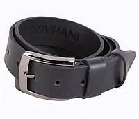 Мужской кожаный ремень классический черный 4 см от Итальянского бренда