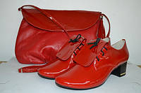 Ботинки женские на шнурках кожа
