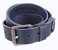 Мужской кожаный ремень под джинсы синий 4 см от Итальянского бренда