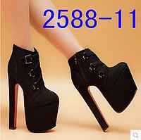 Стильные ботинки ультра высокий каблук 17 см