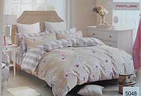 Сатиновое постельное белье евро ELWAY 5048