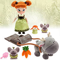 Набор кукла Анна коллекция мини аниматор Disney Frozen Animators Collection Anna Mini Doll Playset 5