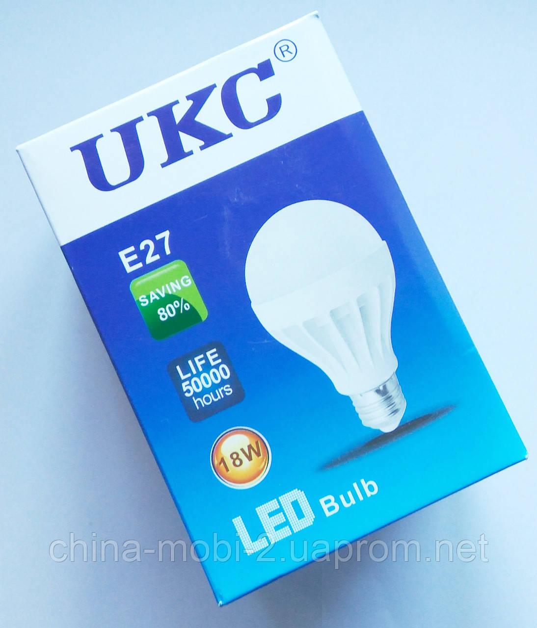 Светодиодная лампа LED UKC 220V 18W E27 круглая