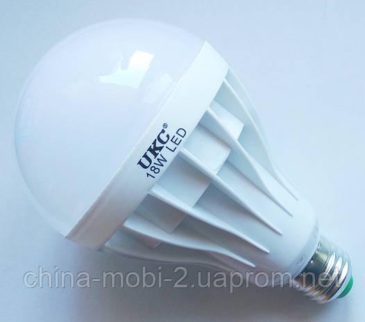 Светодиодная лампа LED UKC 220V 18W E27 круглая, фото 2