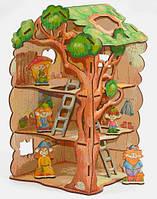 Конструктор Вуди (Woody) деревянный Дом-дерево для Лешиков