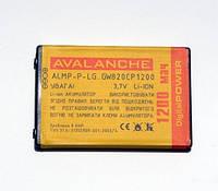 АКБ Avalanche для LG GX200,GX300 Duos,GX500 Duos,P500, P520 Duos - 1200 мАч
