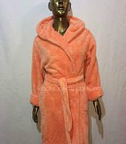 Банный халат женский длинный, плюшевая махра, Турция от 44 до 58 размера, фото 2