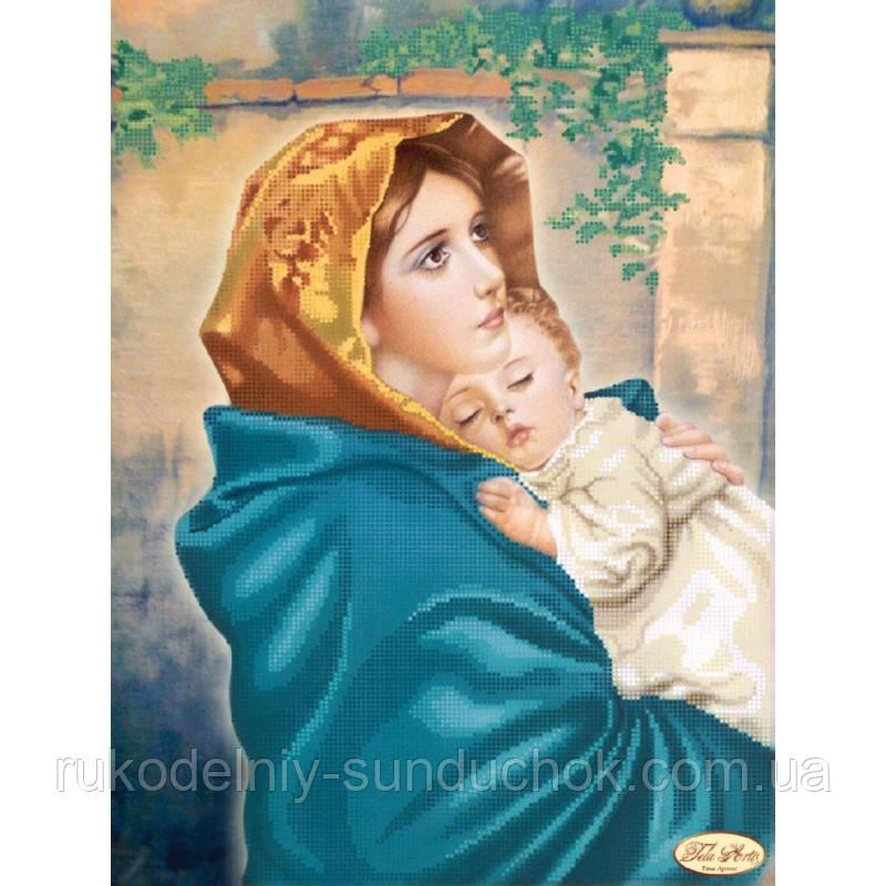 Схема для вышивания бисером Tela Artis Мадонна с младенцем ТК-008