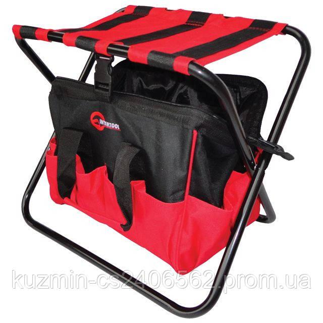 Складной универсальный стул с сумкой до 90кг 420мм*310мм*360мм INTERTOOL BX-9006