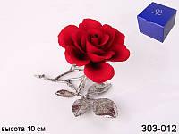 """Изделие декоративное """"Роза"""" высота 10 см ed303-012"""