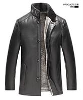 Мужская зимняя кожаная куртка. Модель 1053