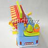 Детская кухня, плита 2 комфорки голубая Fast food Bus на колесах, фото 2