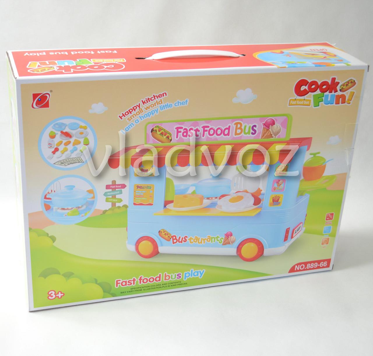 упаковка кухни на колесах fast food bus