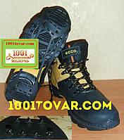 Универсальные ледоходы на 7+7 шипов, ледоступы, антискользители, шипы на обувь, размер 35-40, фото 1