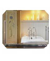 Зеркало с полочкой для ванной 50х60 см