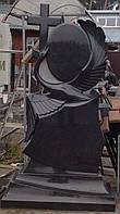 Элитные памятники фото Лебедь с крестом